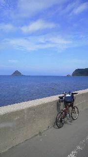 小径車で奥尻島一周